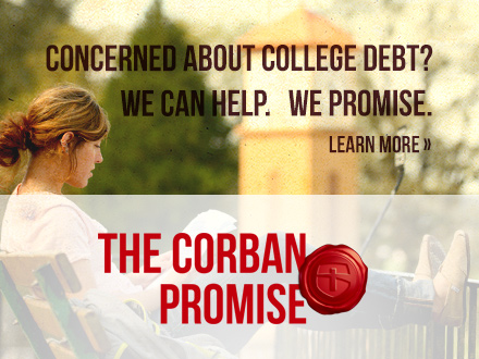 Concerned about college debt? - We can help. We promise. Learn More. The Corban Promise